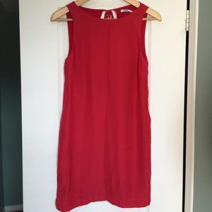 Kimchi Blue Red Shift Dress with Open Back